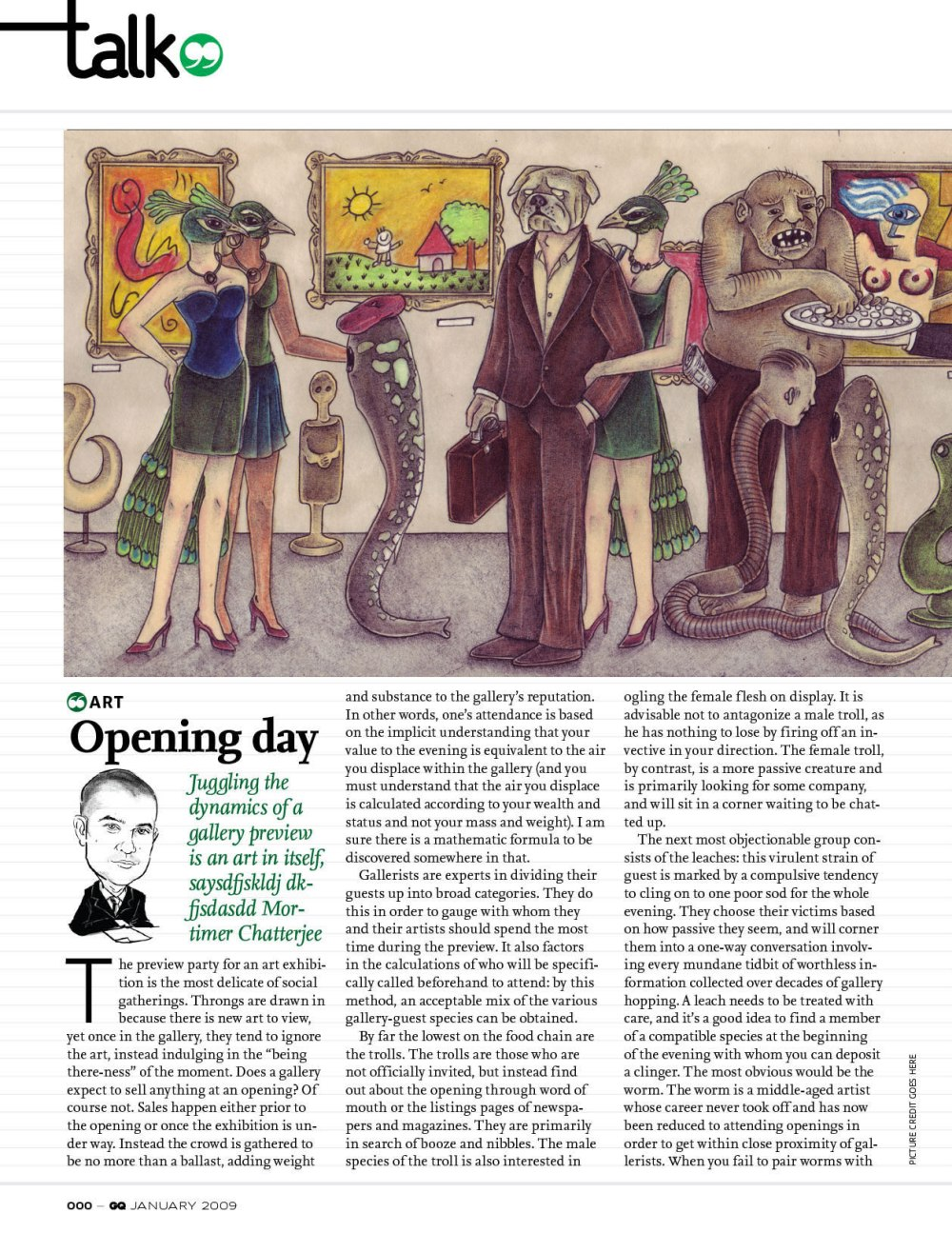 GQ India – Talk Art - Opening Day Article