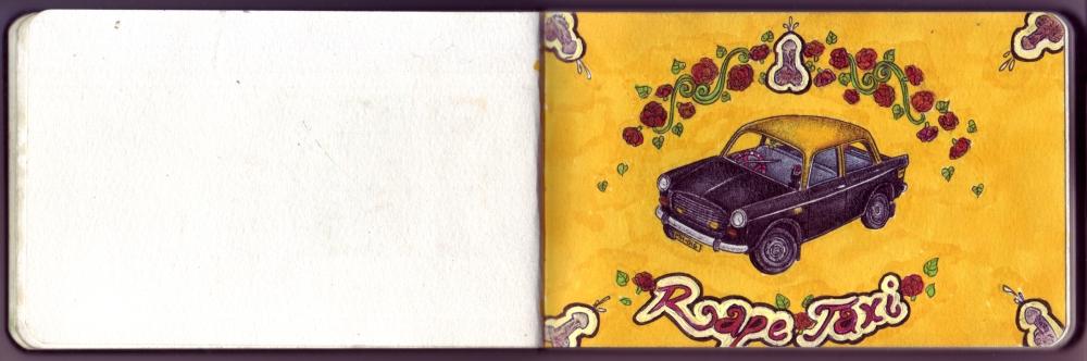 Rape Taxi Sketch