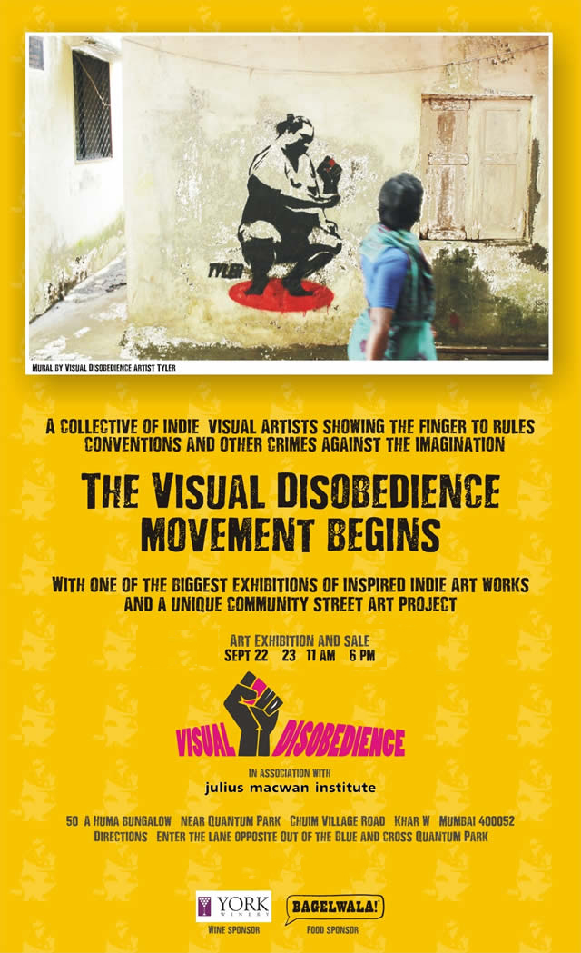 Visual Disobedience Launch Invite