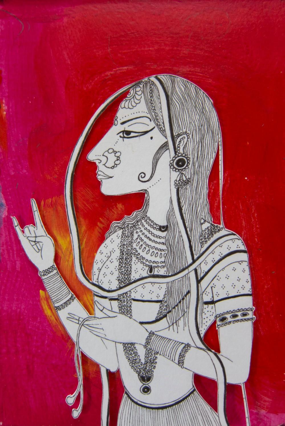 12 Mughal Lady Crop