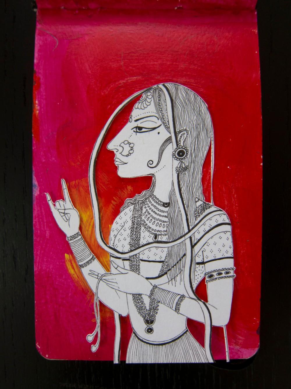 12c Mughal Lady