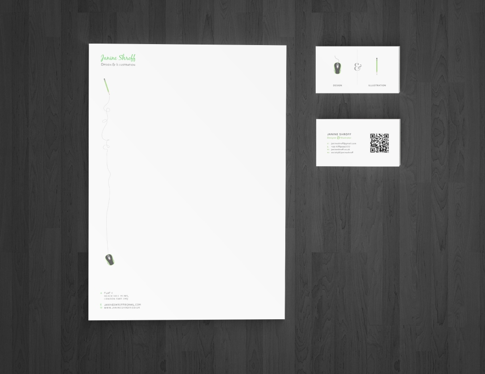 Business Card & Letterhead Mockup