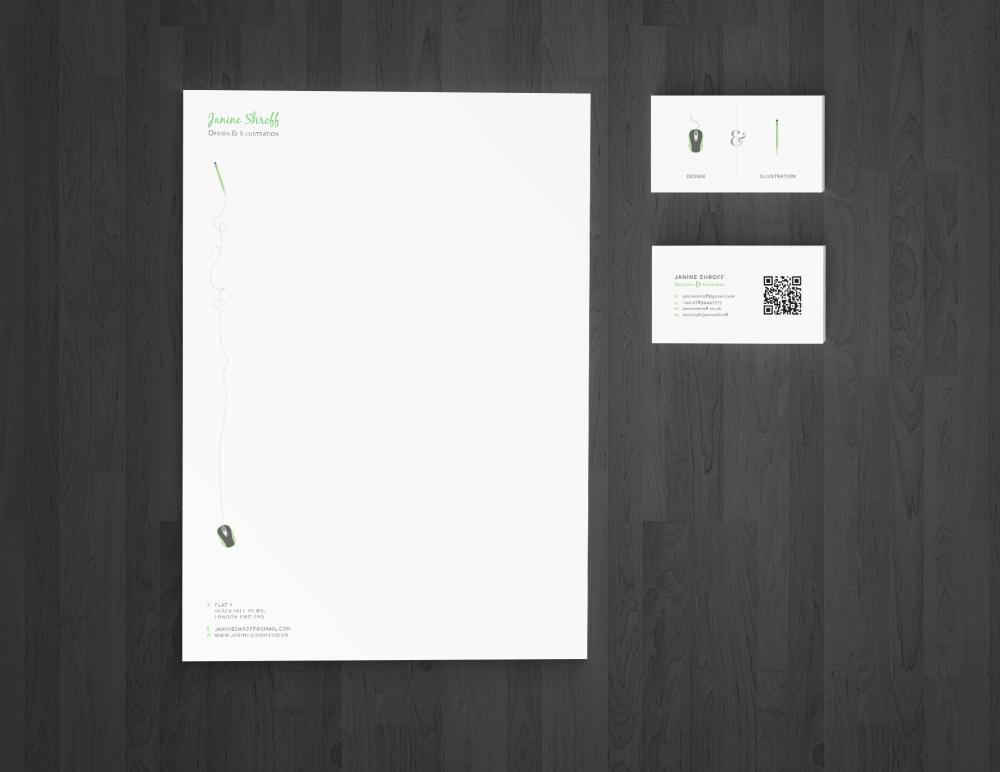 Business Card & Letterhead Mockup
