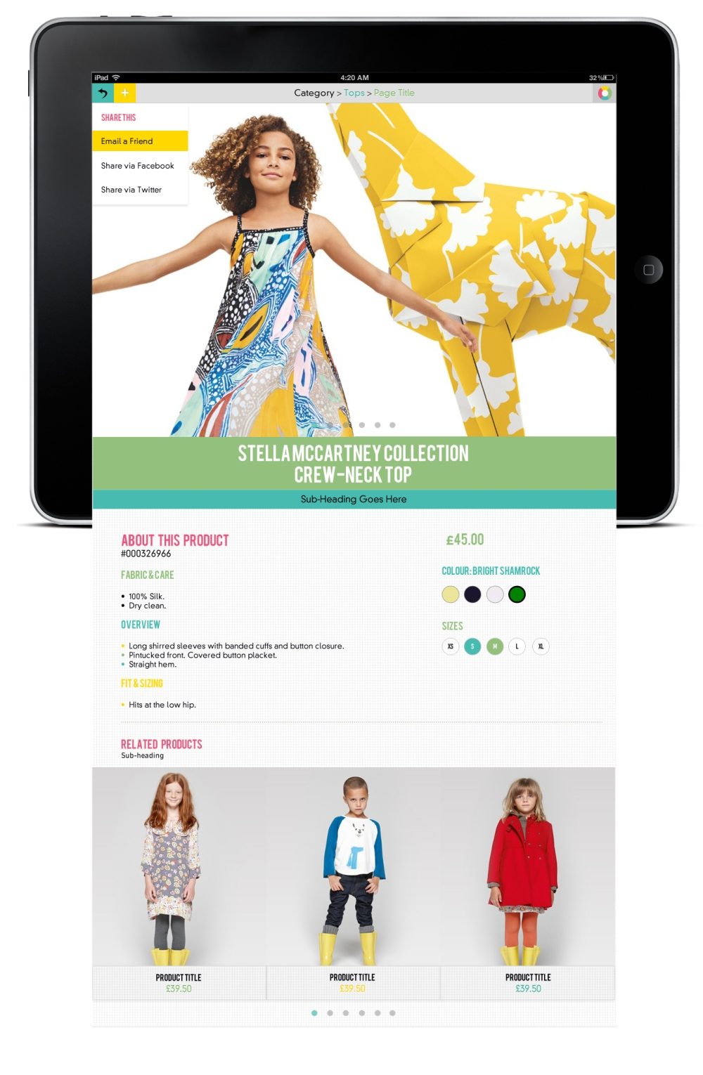 Skin 1 - Product Page