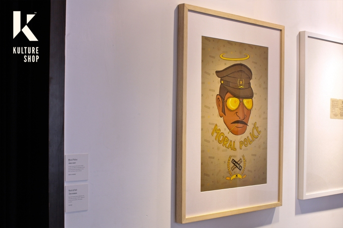 Moral Police Framed Print (Wood frames)