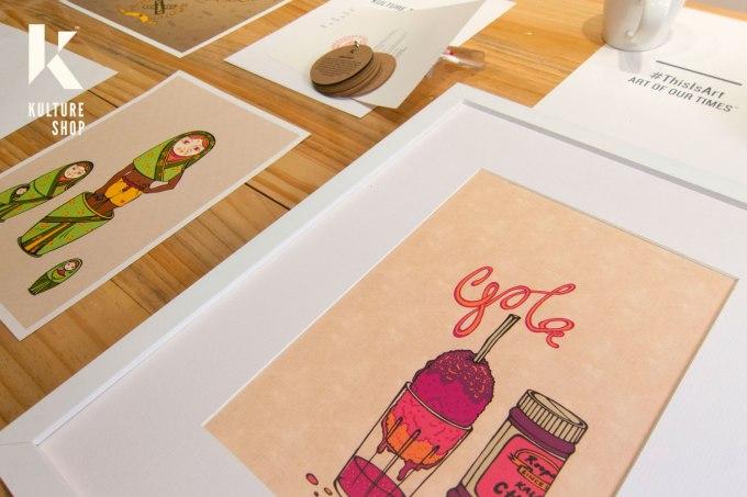 Gola Print Closeup