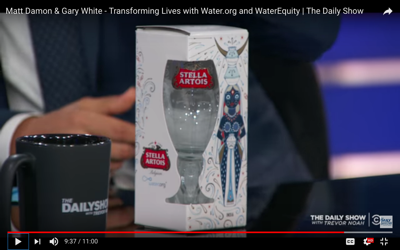 The Daily Show with Trevor Noah | Matt Damon & Gary White Transforming Lives with Water.org and WaterEquity