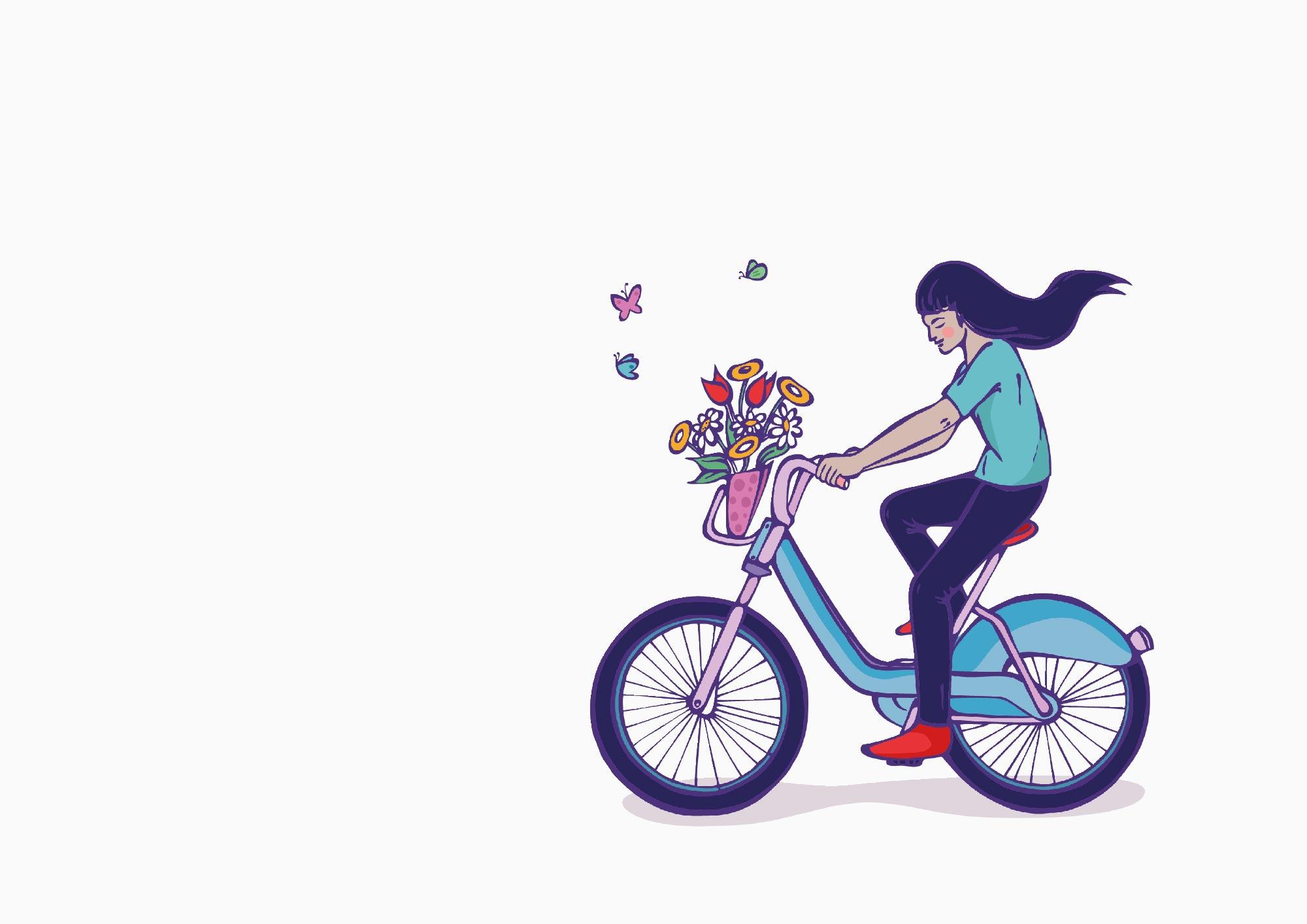 London Mural | Girl on Bike