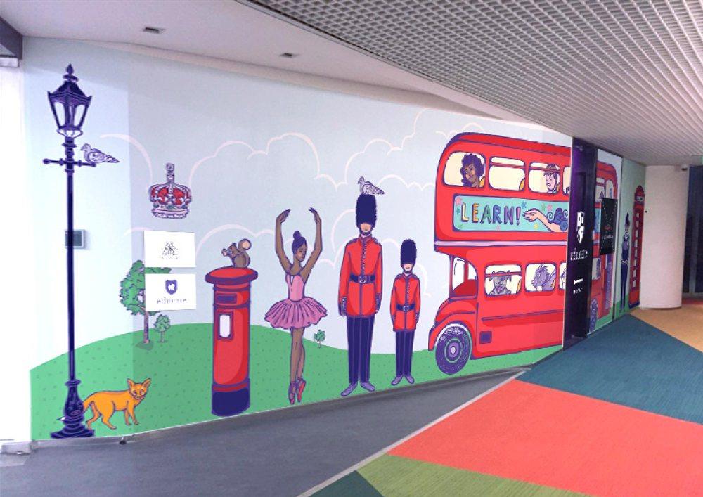 Corridor Mural | Mockup