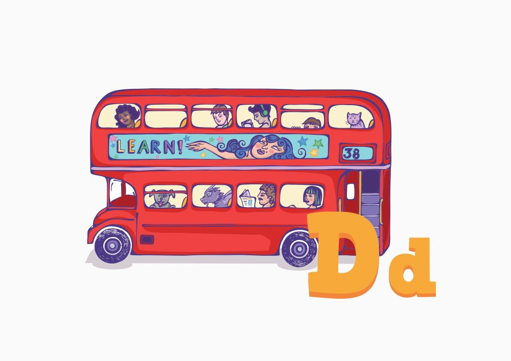 Educate Kids Club | Flash Cards Bus
