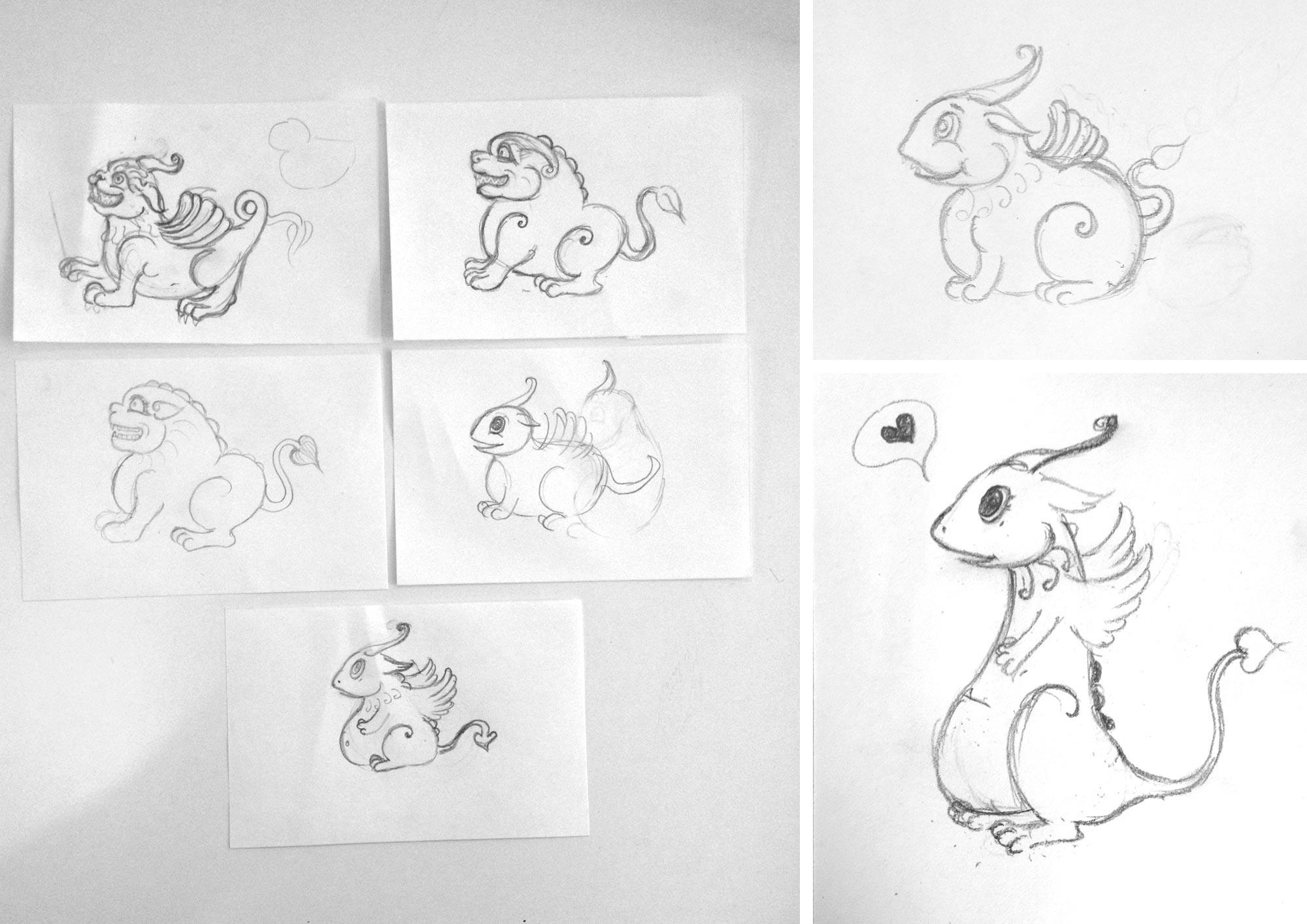 'Percy Pu' Mascot | Initial Sketches