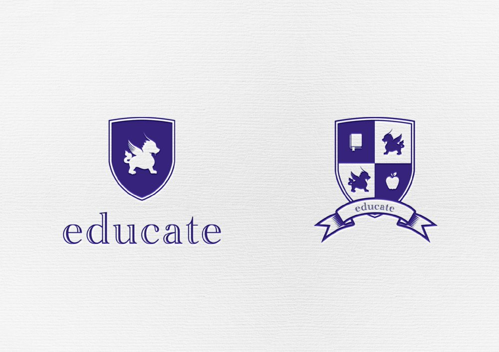 Educate Kids Club | Logo & Shield based on the Mascot
