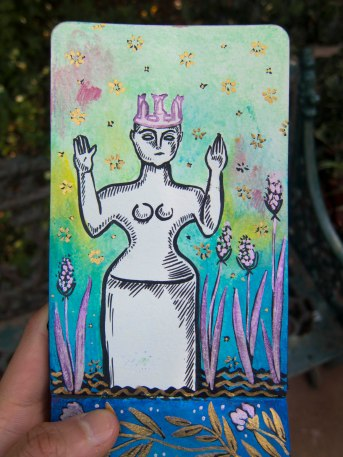 129 Votive Goddess Portrait